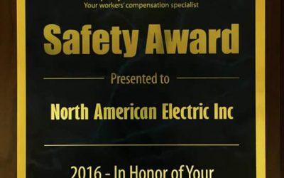 Safety Award for 2016